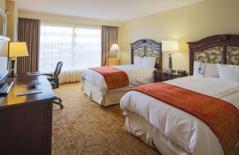 Guest room at Columbus Marriott.