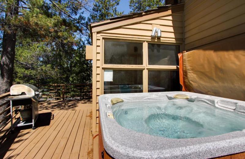 Vacation rental whirlpool at Vacasa Rentals Sunriver.