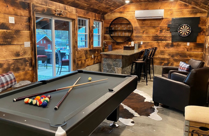 Rental game room at Northern Living - Luxurious Vacation Rentals.