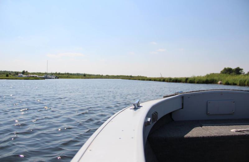 Boating at Buffalo Point Resort.