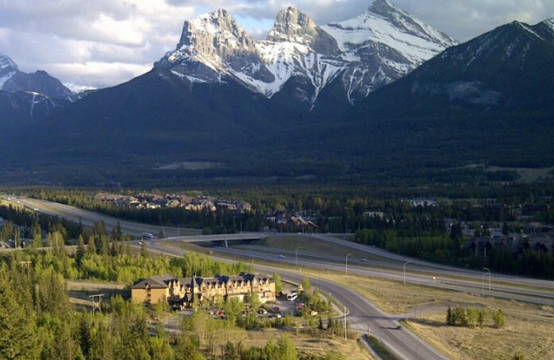 Aerial View of Holiday Inn Canmore
