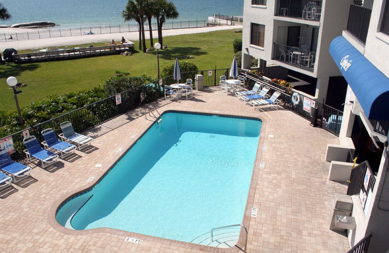 Rental outdoor pool at Liberte Management Group.
