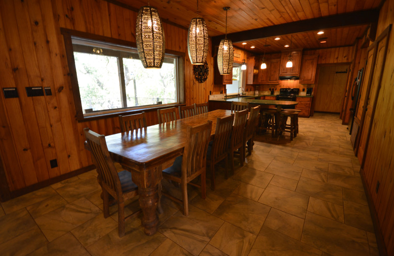 Rental dining room and kitchen at Frio Family Getaway