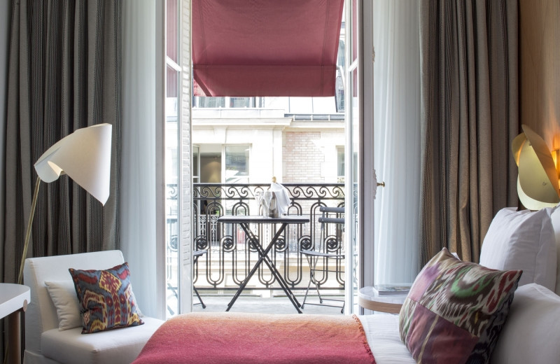 Guest room at Hotel Vernet.