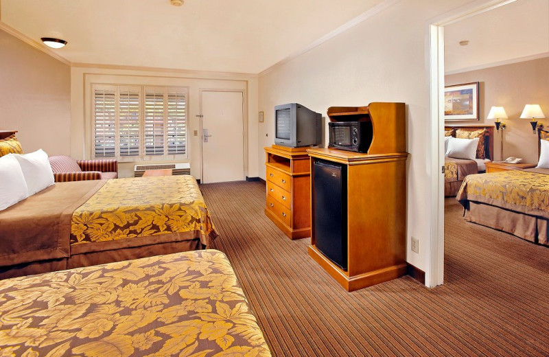 Family suite at The Anaheim Desert Inn & Suites.