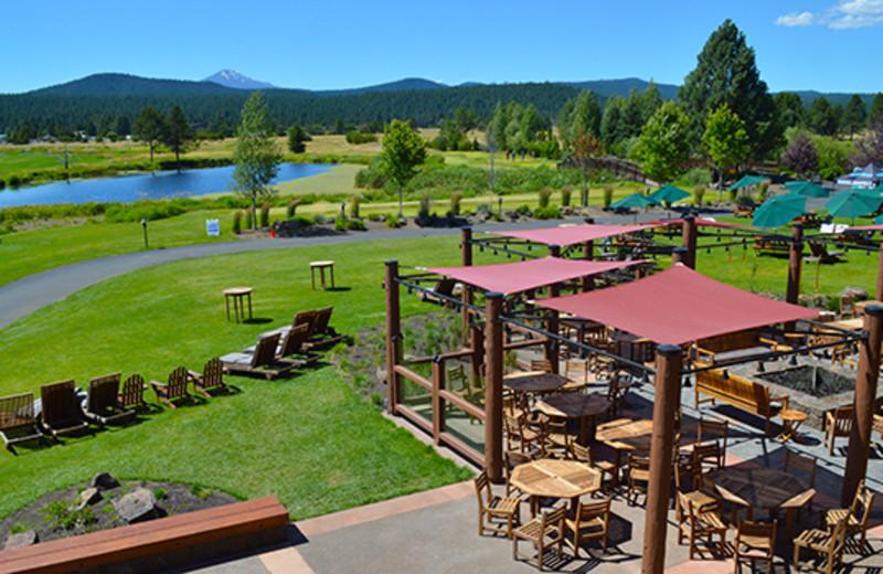Sunriver Resort's outdoor restaurant and beer garden The Backyard.