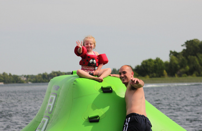 Lake fun at Lakecrest Resort.