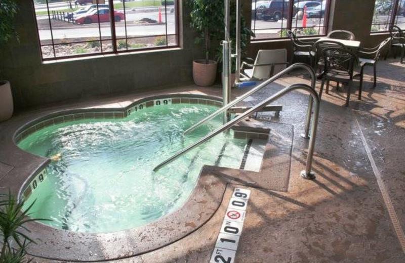 Hot tub at Canal Park Lodge.