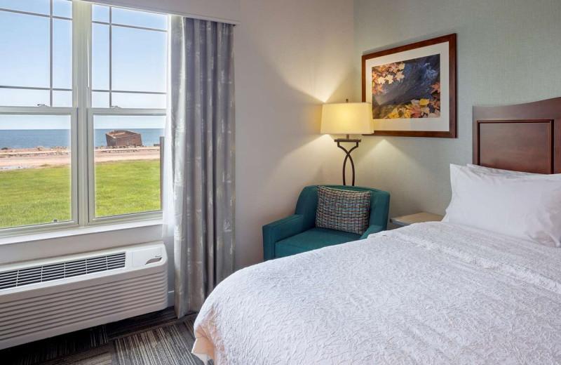 Guest room at Hampton Inn Duluth Canal Park.