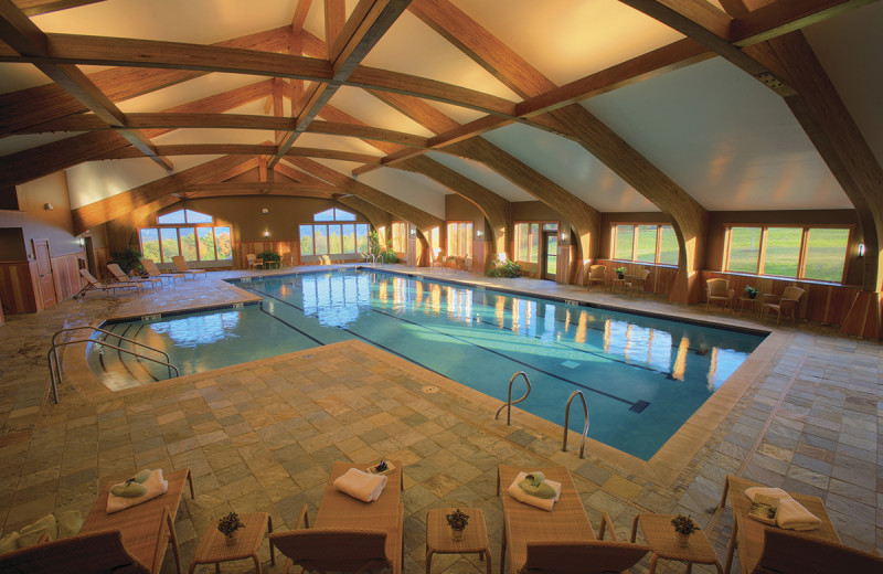 Indoor pool at Trapp Family Lodge.
