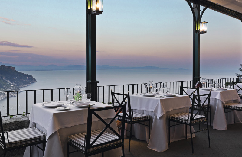 Dining at Palazzo Avino.