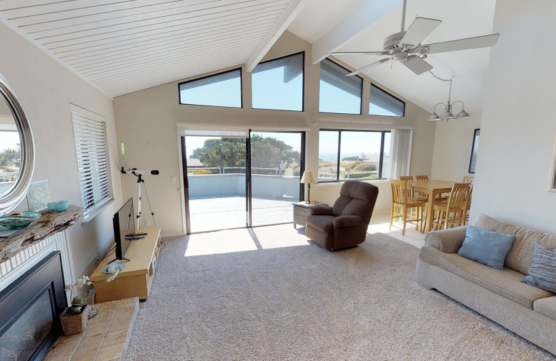 Rental living room at Irish Beach Vacation Rentals.
