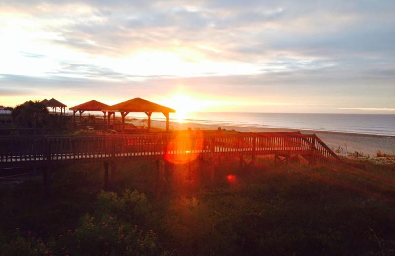 Sunrise at Ocean Isle Inn.
