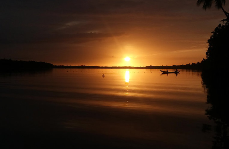 Sunset at Orinoco Delta Lodge.