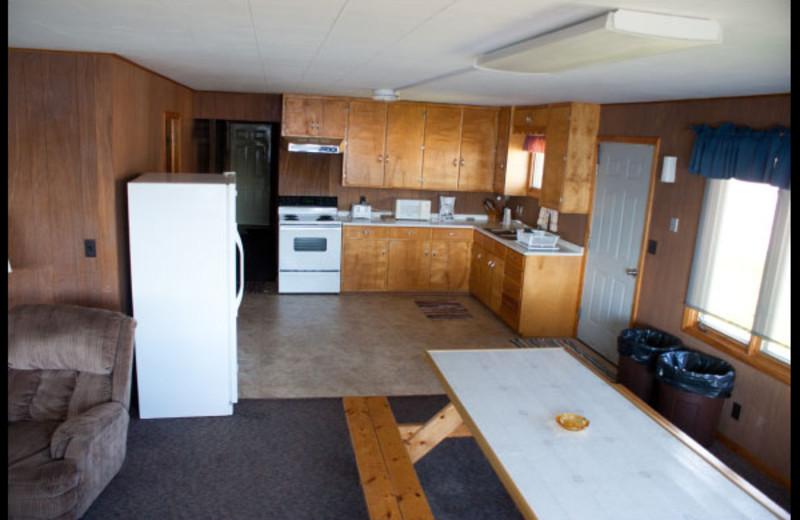 Guest kitchen at Slim's Resort.