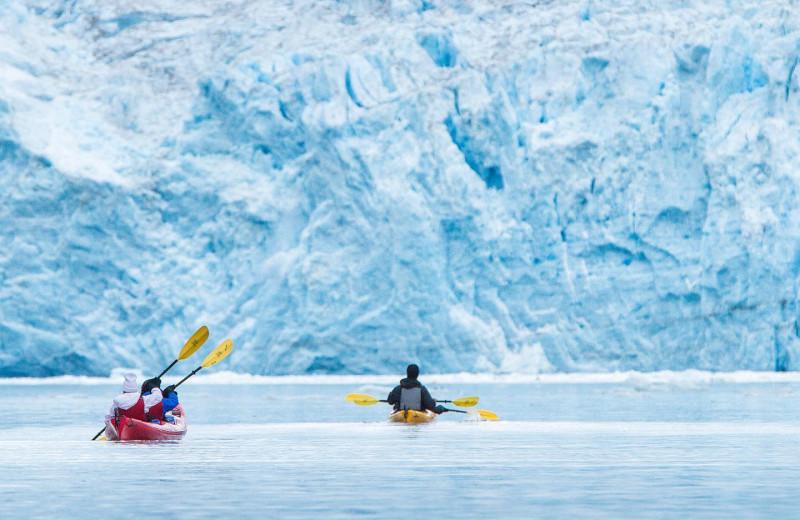 Kayaking near Kenai Riverside Lodge.
