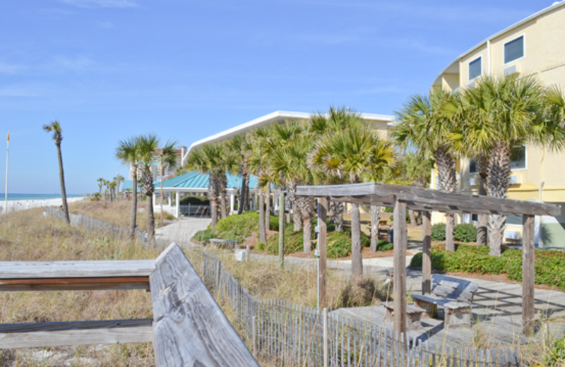 Easy access to hiking trails at Boardwalk Beach Resort Hotel & Convention Center
