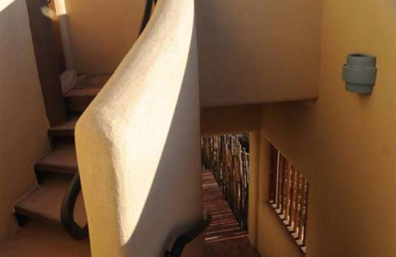 Stairway at Inn on La Loma Plaza.