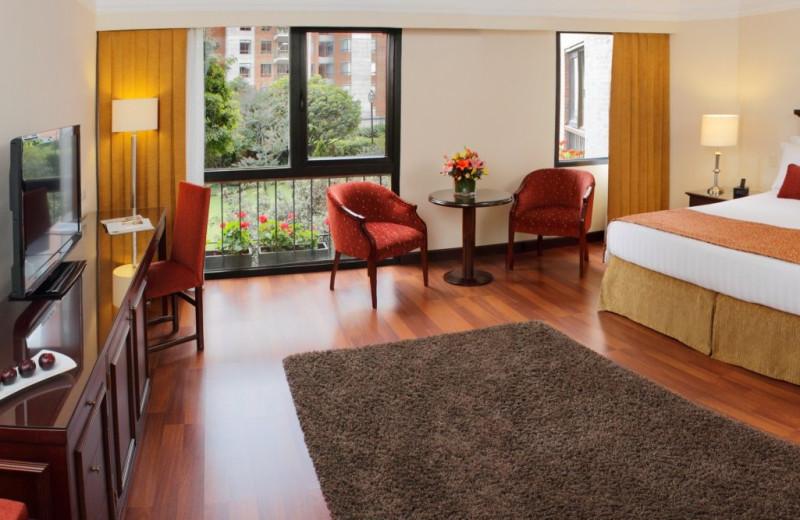 Guest room at Hotel La Fontana.