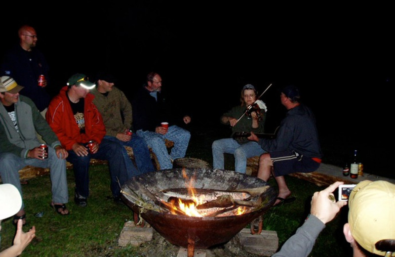 Campfire at Lake Of The Woods Lodge.