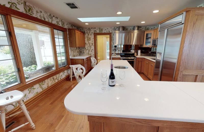 Kitchen at BoatHouse Villa.
