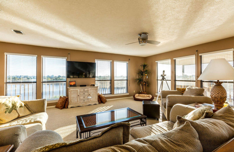 Rental living room at Gary Greene Vacation Rentals.