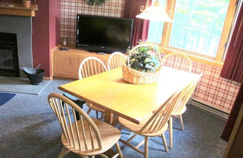 Dining table at Highridge Condominiums.