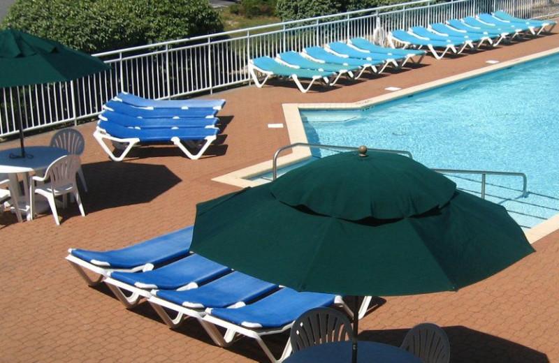 Pool area at The Villas of Hatteras Landing.