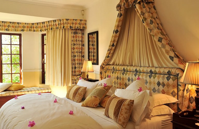 Guest room at Highgrove House.