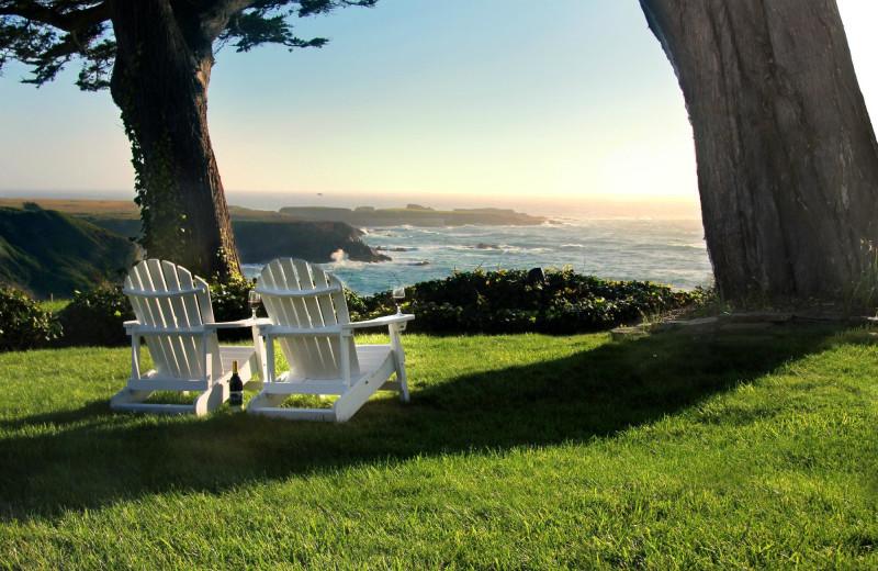 Scenic view at Agate Cove Inn.