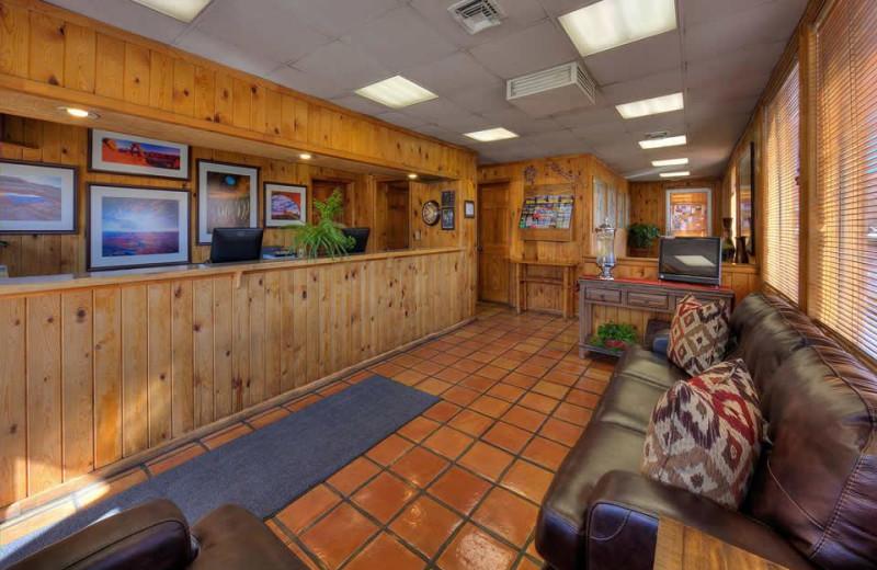 Lobby at Big Horn Lodge.