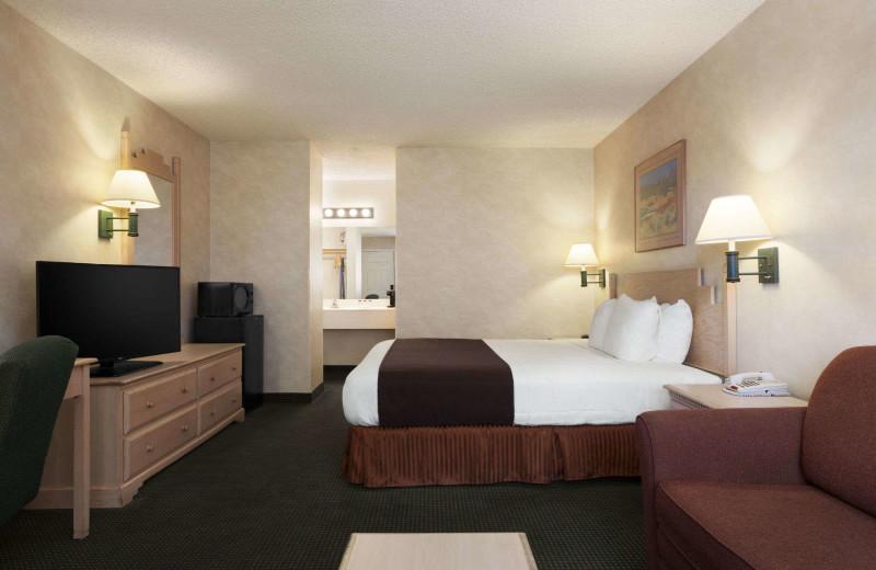 Guest room at Ramada at Arrowhead Mall.