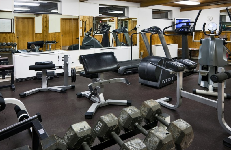 Fitness room at Park Place Hotel.