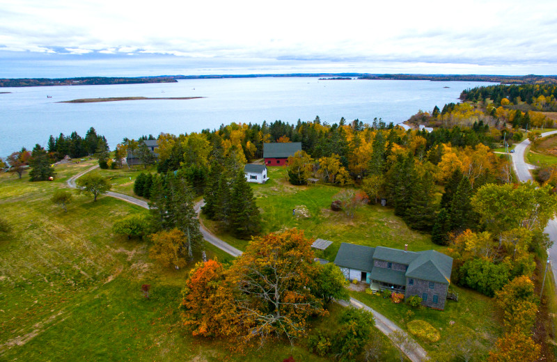 Aerial view of Rossport Lodging & Retreat.
