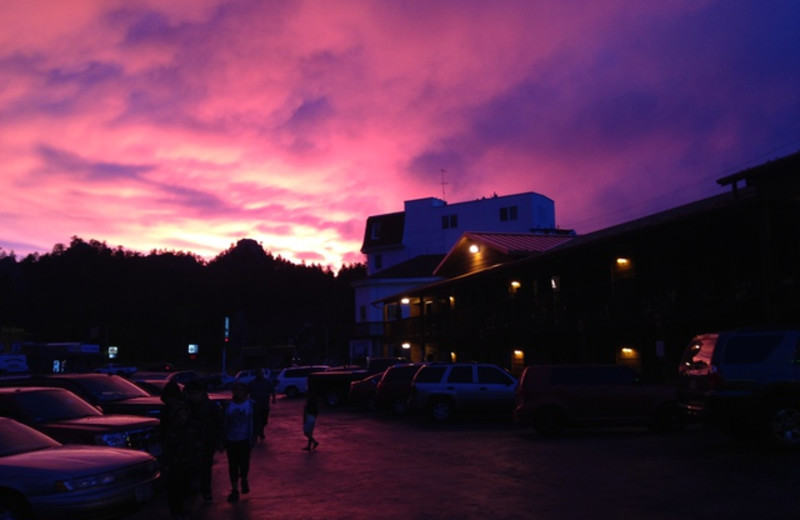 Sunset at Rushmore Express Inn & Family Suites.
