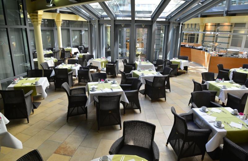 Dining at Alexander Plaza.