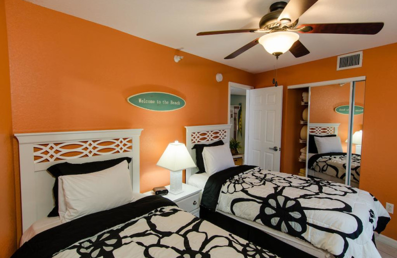Rental two bed guest room at Sunsational Beach Rentals. LLC.