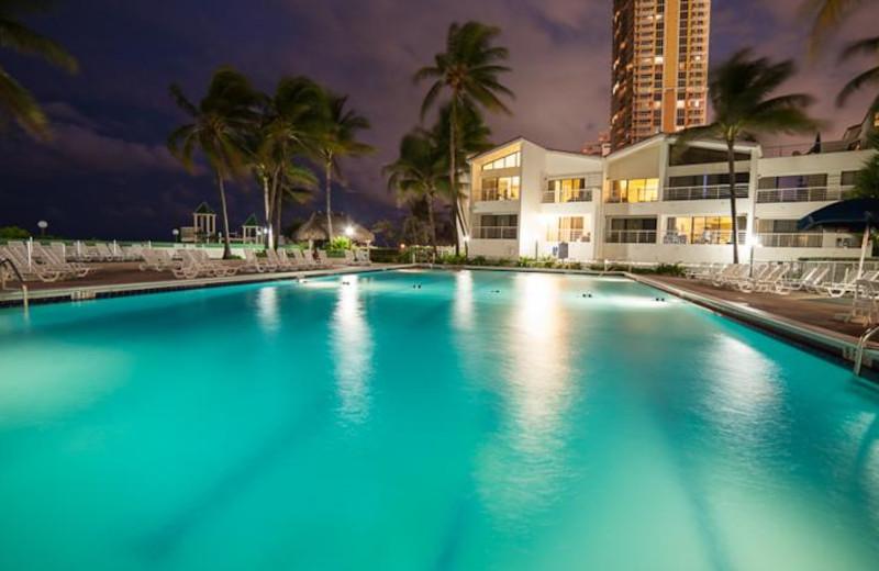 Outdoor pool at Golden Strand Ocean Villa Resort.