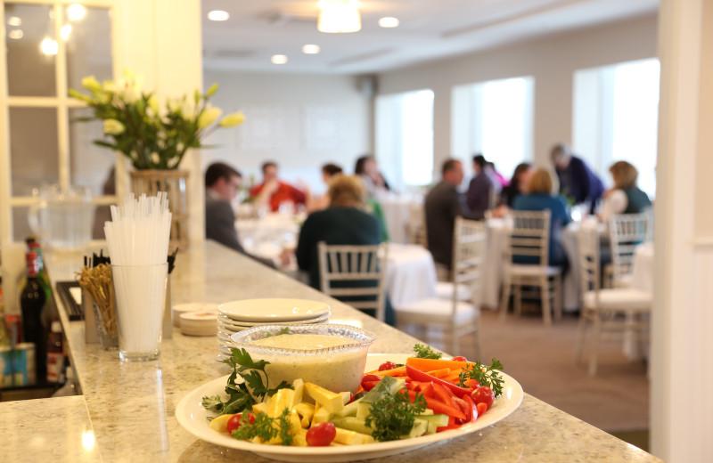 Dining at Sheepscot Harbour Village & Resort.
