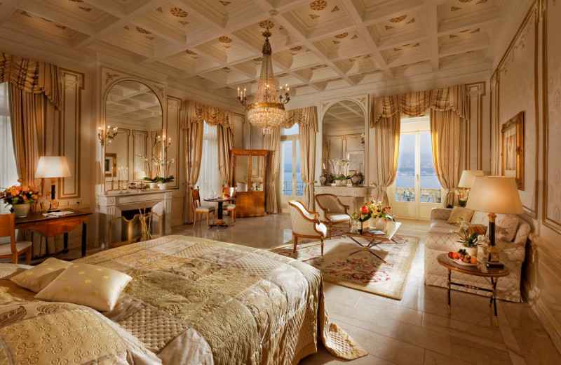 Guest room at Grand Hotel National.