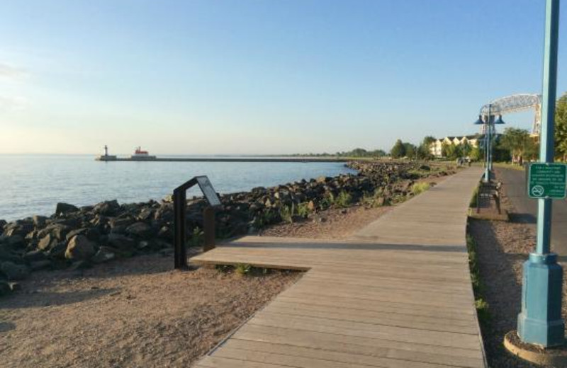 Boardwalk at Hampton Inn Duluth.