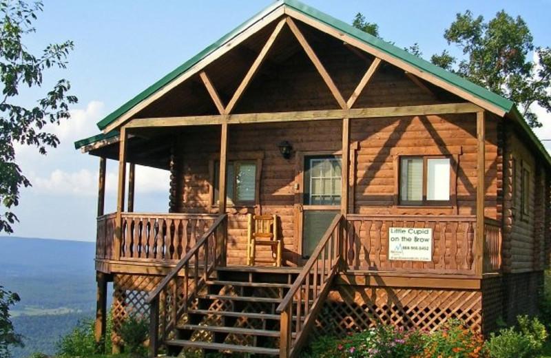 Cabin exterior at Mentone Cabins.