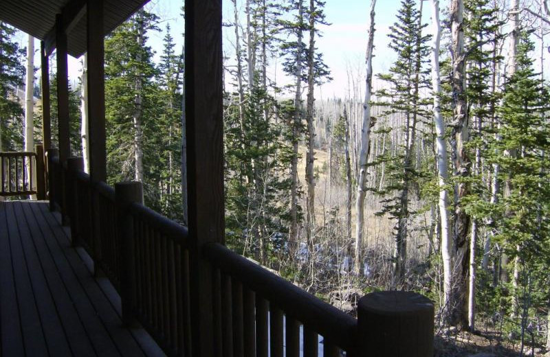 Deck view at Lori's Luxury Rentals.