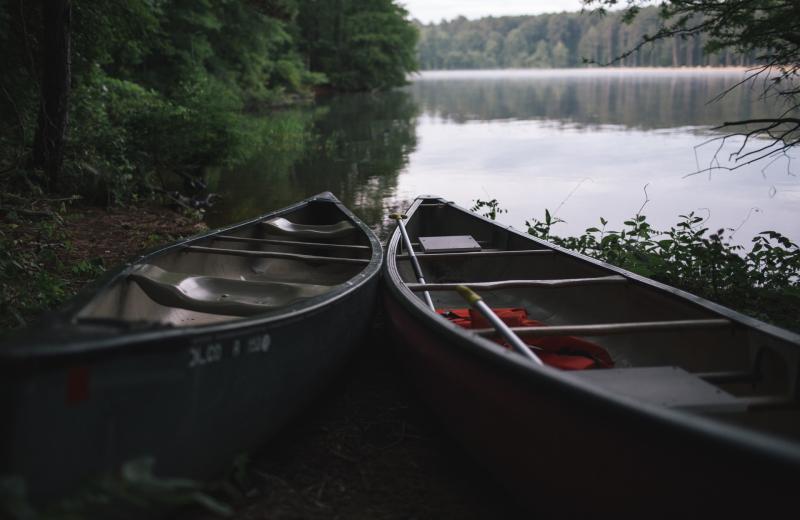 Canoes at Hampel Properties.