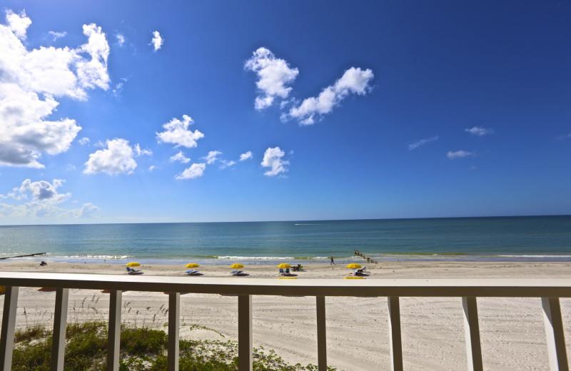 Guest balcony at Shoreline Island Resort.