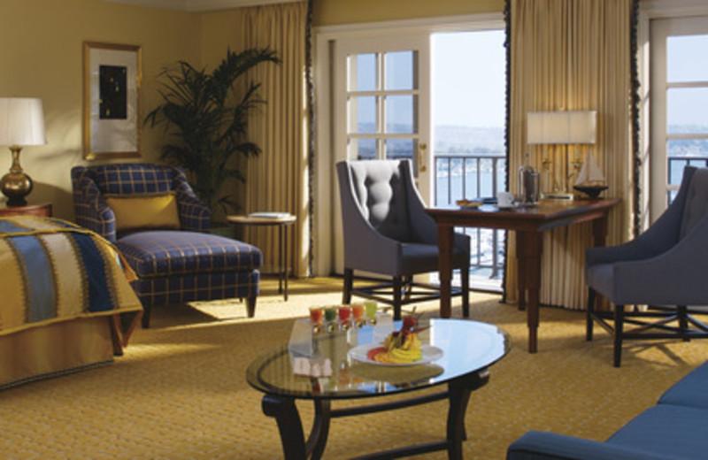 Guest room at The Ritz-Carlton, Marina del Rey.