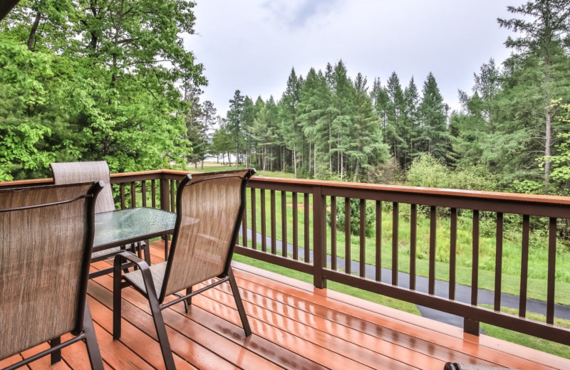 Cabin deck at Hampel Properties.
