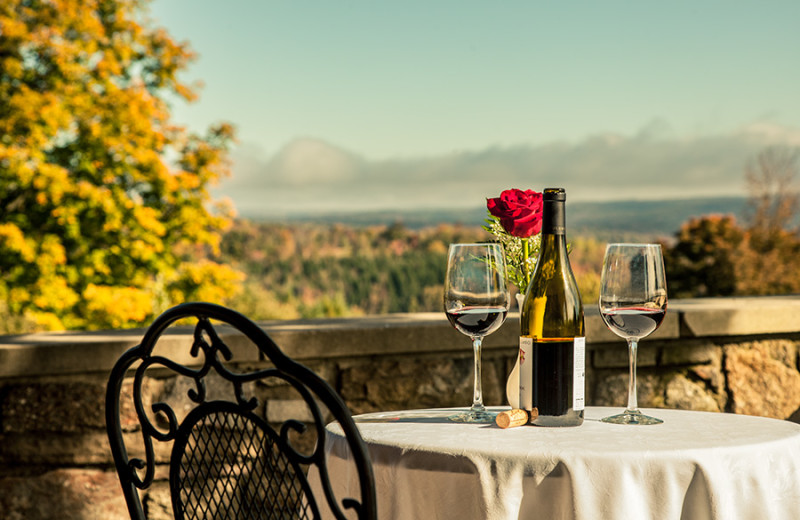 Outdoor dining at The French Manor Inn and Spa.