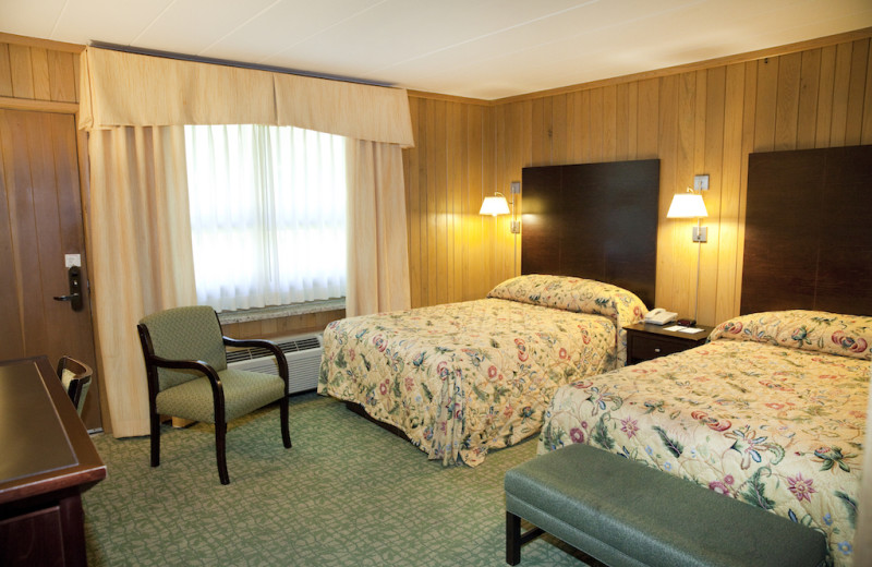 Guest room at Oglebay Resort and Conference Center.