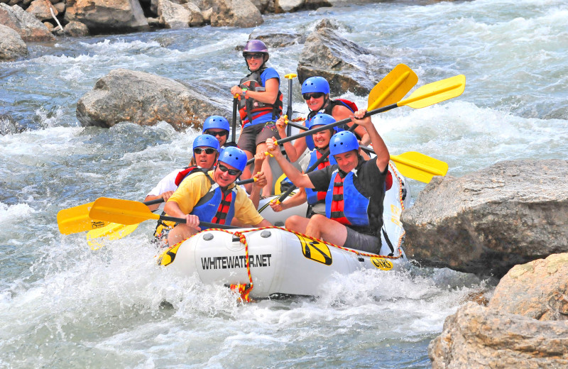 Rafting at Mt. Princeton Hot Springs Resort.